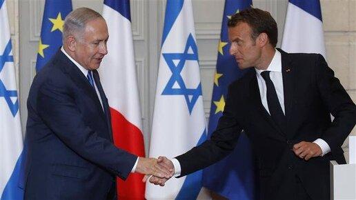 Le PM israélien, Benjamin Netanyahu, et le président français, Emmanuel Macron. ©AFP