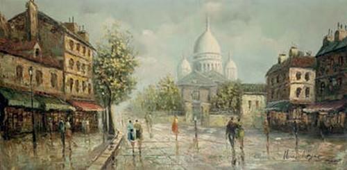 Henri Royer Montmartre sous la pluie
