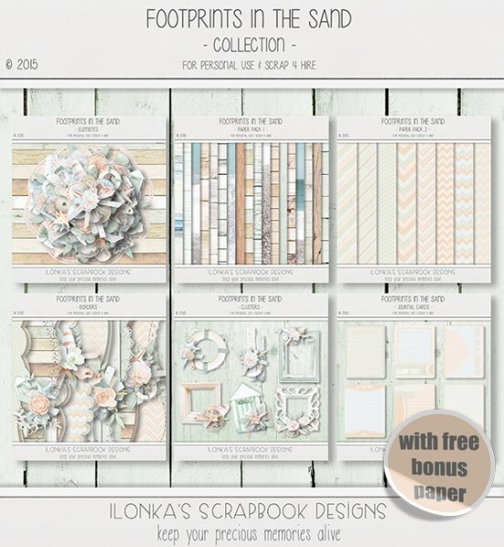 Footprints In The Sand Collection by Ilonkas Scrapbook Designs