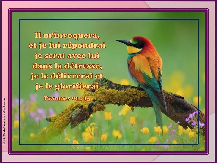 Je serai avec lui - Psaumes 91 : 15