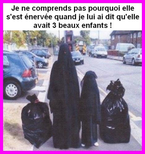 la musulmane et ses enfants