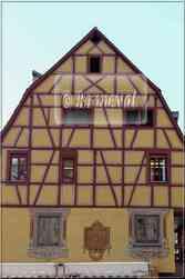 * Haut-Rhin * Trompe l'oeil maison Vieux Colmar
