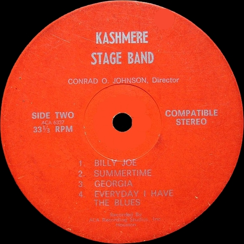 "Kashmere Stage Band ‎: Album "" Our Thing "" ACA Recording Studios [ US ]"