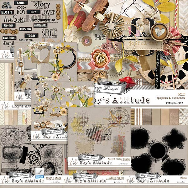 Boys Attitude { Bundle PU } by Florju Designs