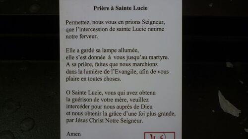 Reliques de Sainte Lucie