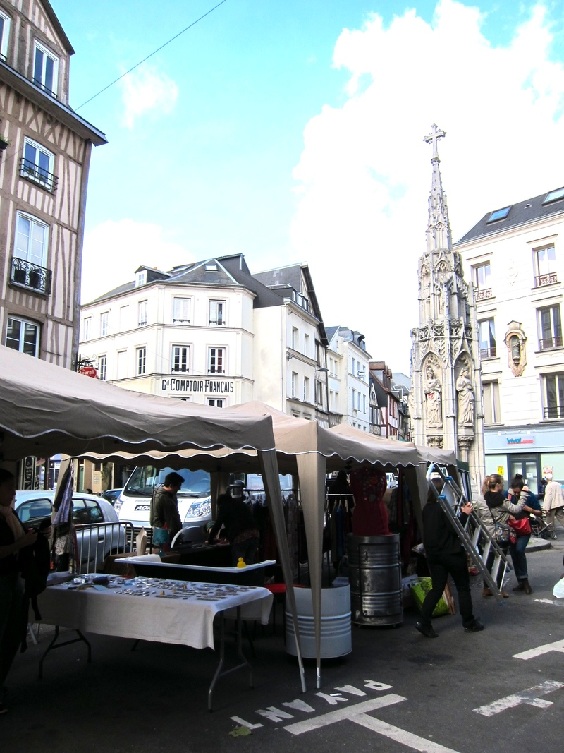 Rouen Croix de Pierre fontaine