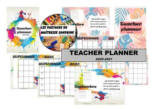 Teacher planner 2020-2021