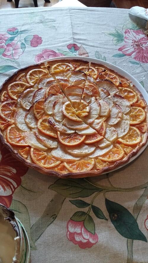 la tarte pomme-orange de maman