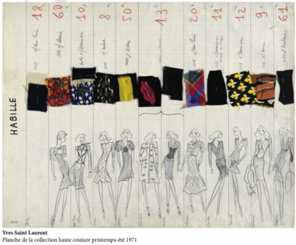 EXPOSITION Yves Saint Laurent 1971