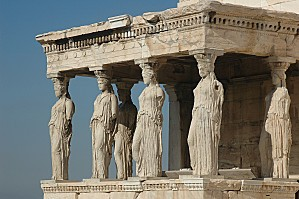 Athènes Acropole Caryatides