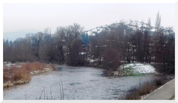 Neige en Auvergne.