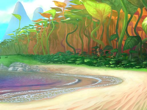 Plage de Jade côté mer