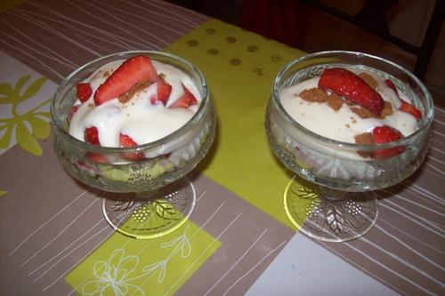 coupes de fraises à la mascarpone