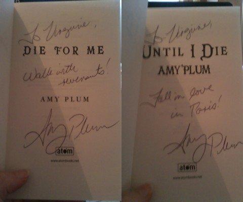 D?dicace de Amy Plum (26/06/2012) + concours