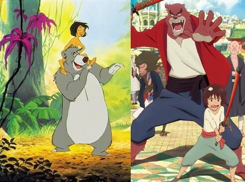 Le garçon et la bête comparé avec Le livre de la jungle