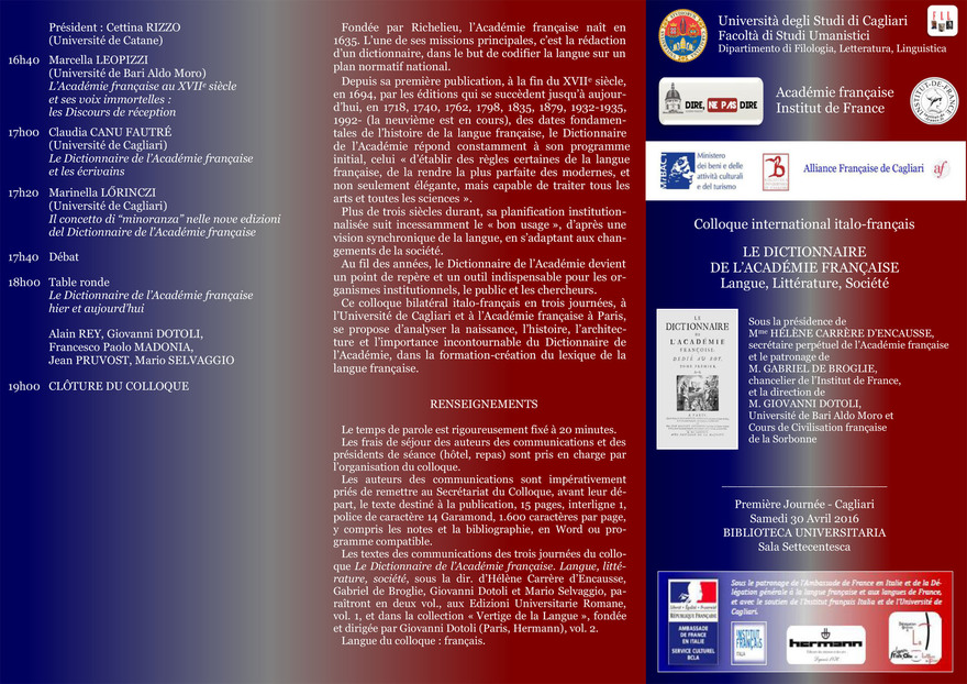 Colloque international :
