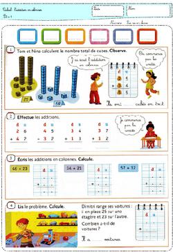 la vie en math en P5 - CP