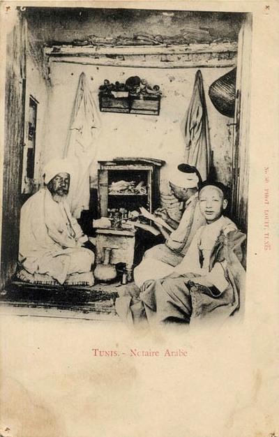 Le notaire et ses clercs (Tunis)