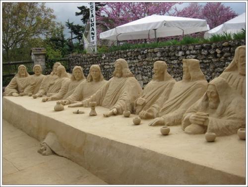 Sculpture en sable