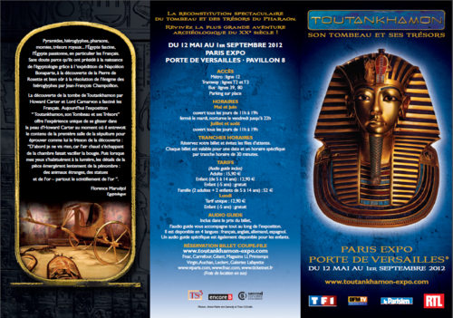 Toutankhamon Expo Paris 2012