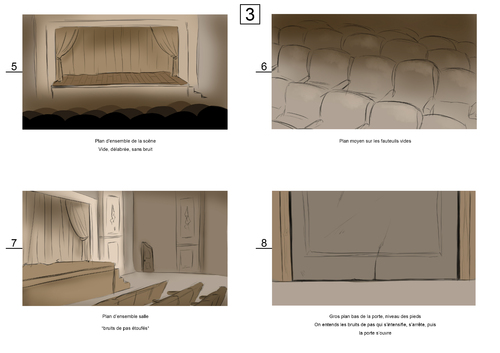 Storyboard - L'illusionniste Partie I