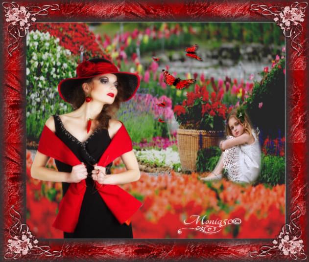 Défi de chez Nathie12or ( femme en rouge )
