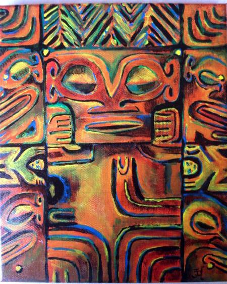 Acrylique sur toile 30 x 25   120€