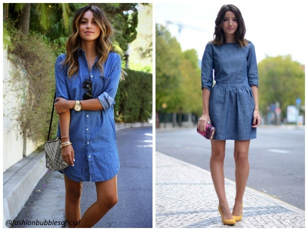 Petite robe jeans