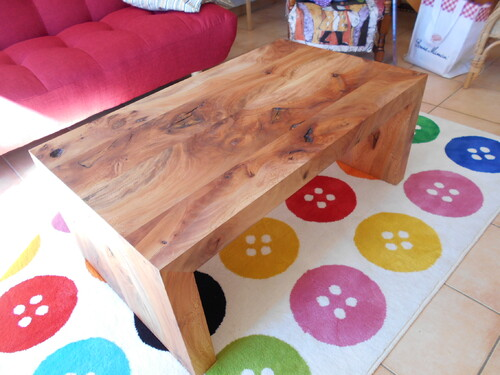 Table basse en platane.
