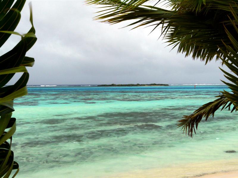 Ciel plombé sur le lagon - Moorea - Polynésie française