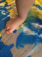 Peinture propre géante - au sol