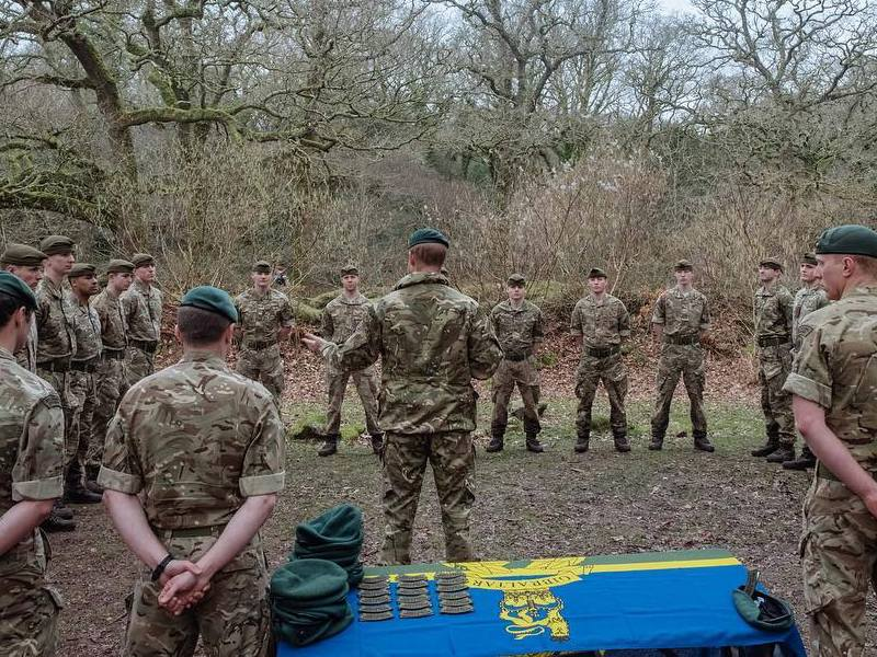 Royal Marines base in Devon