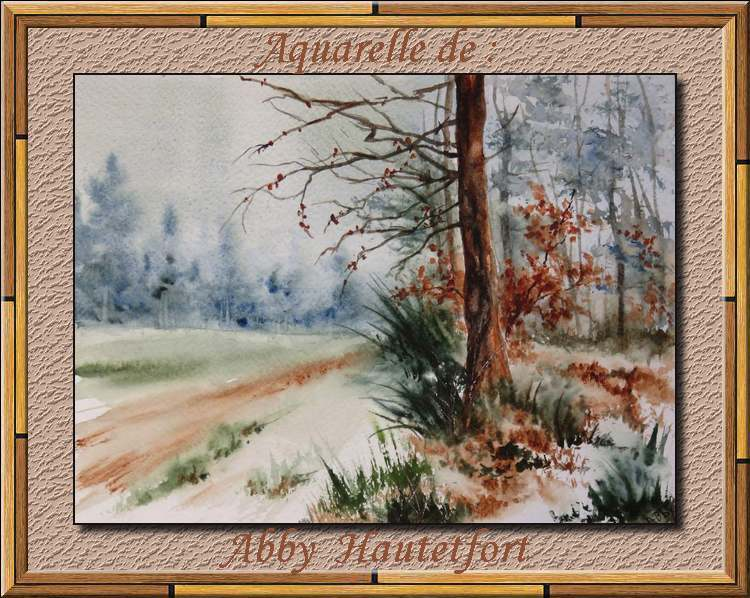 Aquarelles de : Abby Hautetfor