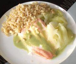 Filet de truite saumonnée sauce sublîme