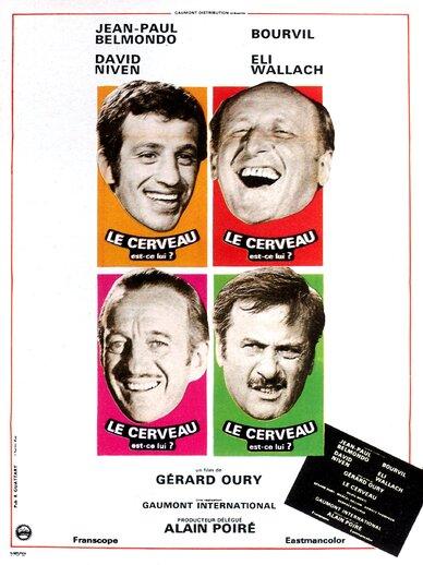 LE CERVEAU - BOX OFFICE JEAN-PAUL BELMONDO 1969