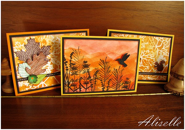 Cartes couleurs d'automne