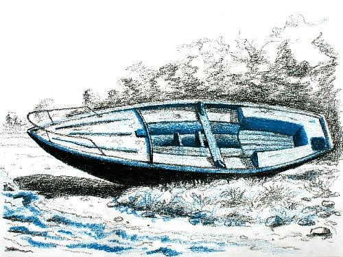 bateau Rance bleu dessin