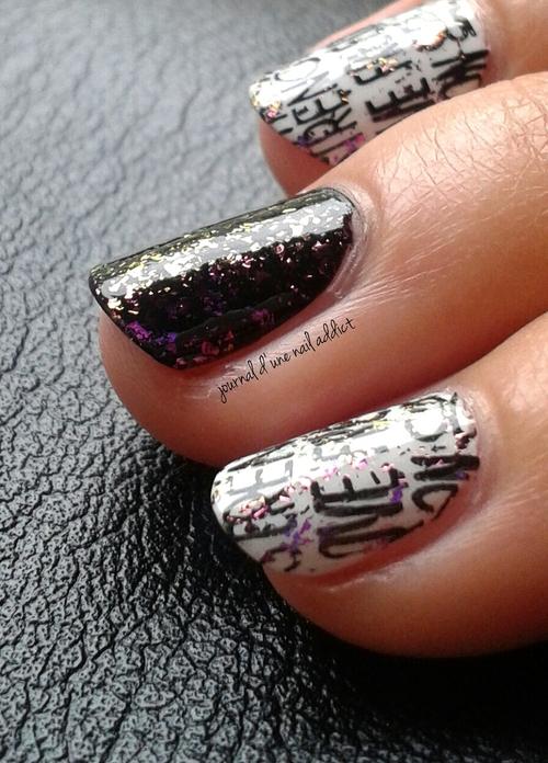 nail art écriture graffiti