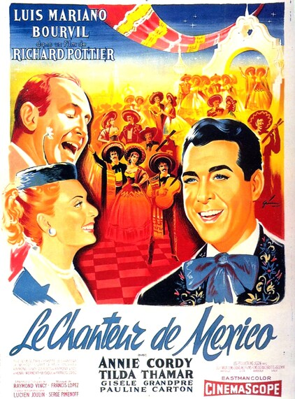 LE CHANTEUR DE MEXICO - BOX OFFICE BOURVIL 1956