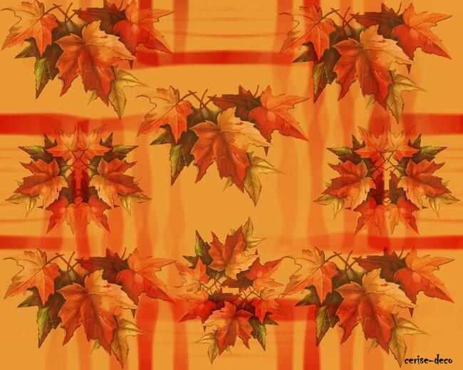 design les feuilles de l'été indien
