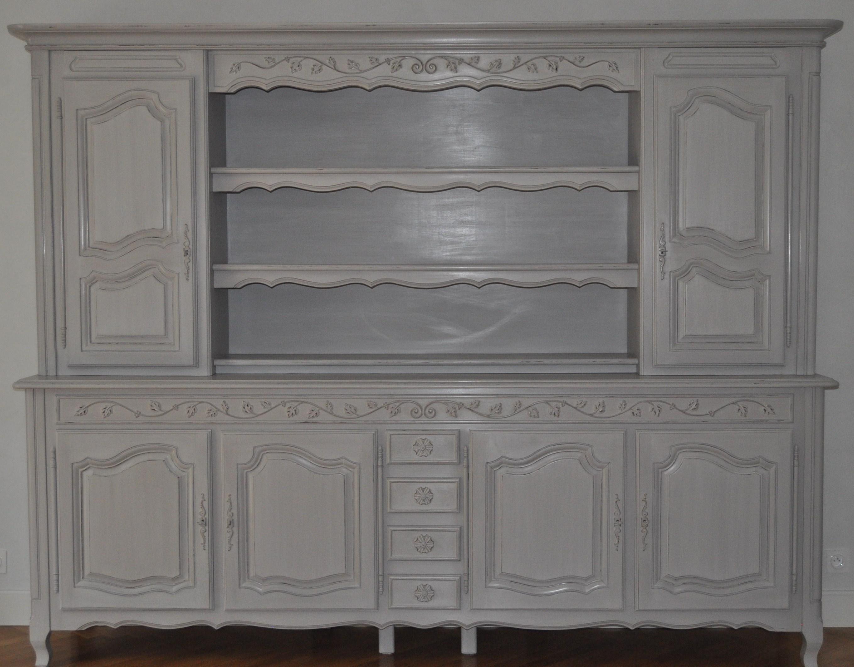 Vaisselier gris patine - Patiner un meuble peint ...