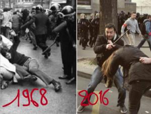 #manifs17mars Les CRS contre la jeunesse : le gouvernement Valls UE MEDEF a fait couler le sang des étudiants #violence (IC.fr-19/03/2016)