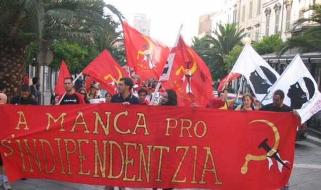 Répression de l'État policier italien contre la Gauche indépendantiste de Sardaigne
