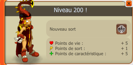 Enfin le Level maximum le 200 !