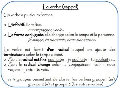 Séquence 1: Le verbe