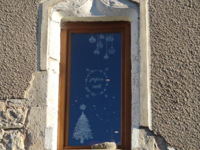 Blog de melimelodesptitsblanpain : Méli Mélo des p'tits Blanpain!, Déco fenêtre Noël à la craie liquide