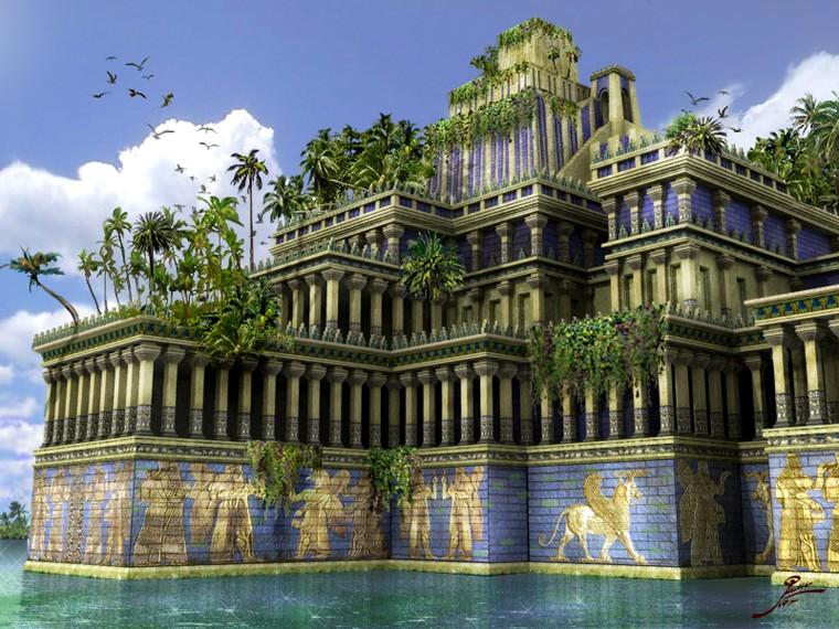 les 7 merveilles du monde antique 5 les jardins suspendus de babylone dans les entrailles. Black Bedroom Furniture Sets. Home Design Ideas