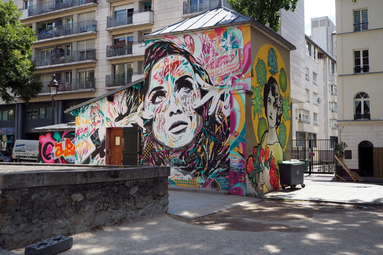 Street Art, la Villette, Paris.