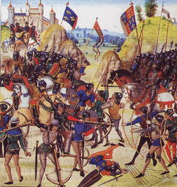La bataille de Crécy : 1346