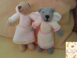 Neko-Ange et Nours-Ange au crochet